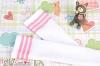 H38.【LT-18】 SD╱DD 大腿襪(學園風) # 白 + 粉紅條