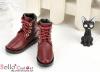 【TY6-4】Taeyang 綁帶簡約短靴 # Crimson