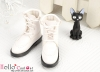 【TY7-1】Taeyang 翻領綁帶短靴 # White