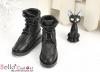 【TY7-2】Taeyang 翻領綁帶短靴 # Black