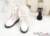 【TY8-2】Taeyang 雙條扣帶短靴 # White